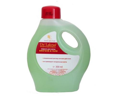 Жидкость De Lakrua для снятия гель-лака и биогеля 300 мл